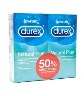 DUREX DUPLO NATURAL PLUS 2 * 12 UNIDADES